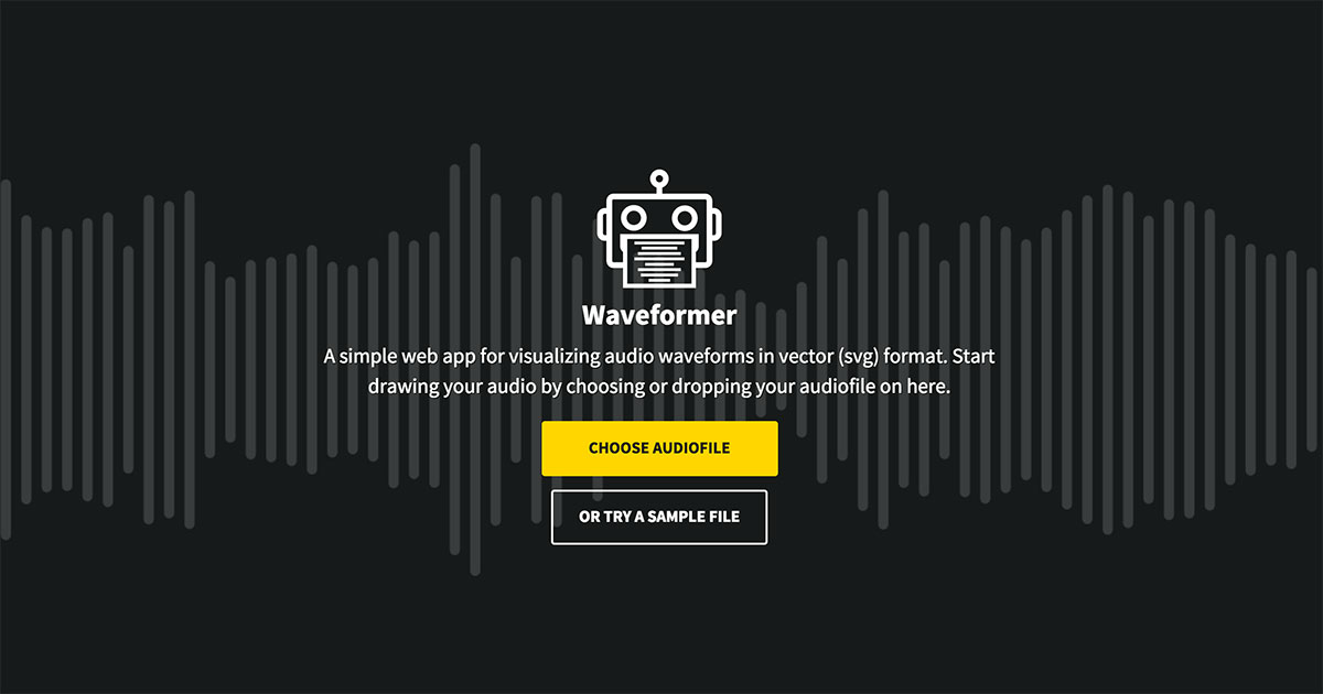 Waveformer - Visualizing your audio in vector waveforms